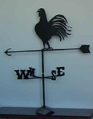 Traditional Rooster Or Cockeral Weathervane